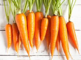 Farmers market carrots